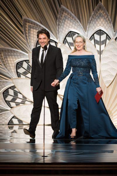 Мэрил Стрип вышла на обьявление победителя в номинации вместе с Хавьером Барденом