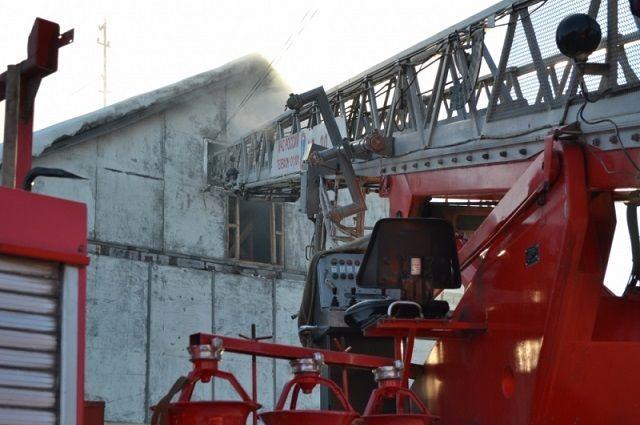 Пожар на100% уничтожил сооружение школы вселе Дагестана