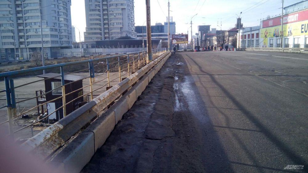 Шулявский путепровод - фото с места событий