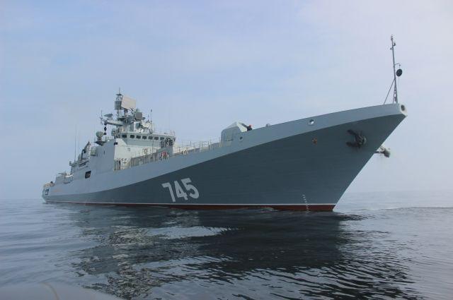 Новейший фрегат Черноморского флота «Адмирал Григорович», построенный на заводе в Калининграде, отправился к берегам Сирии.