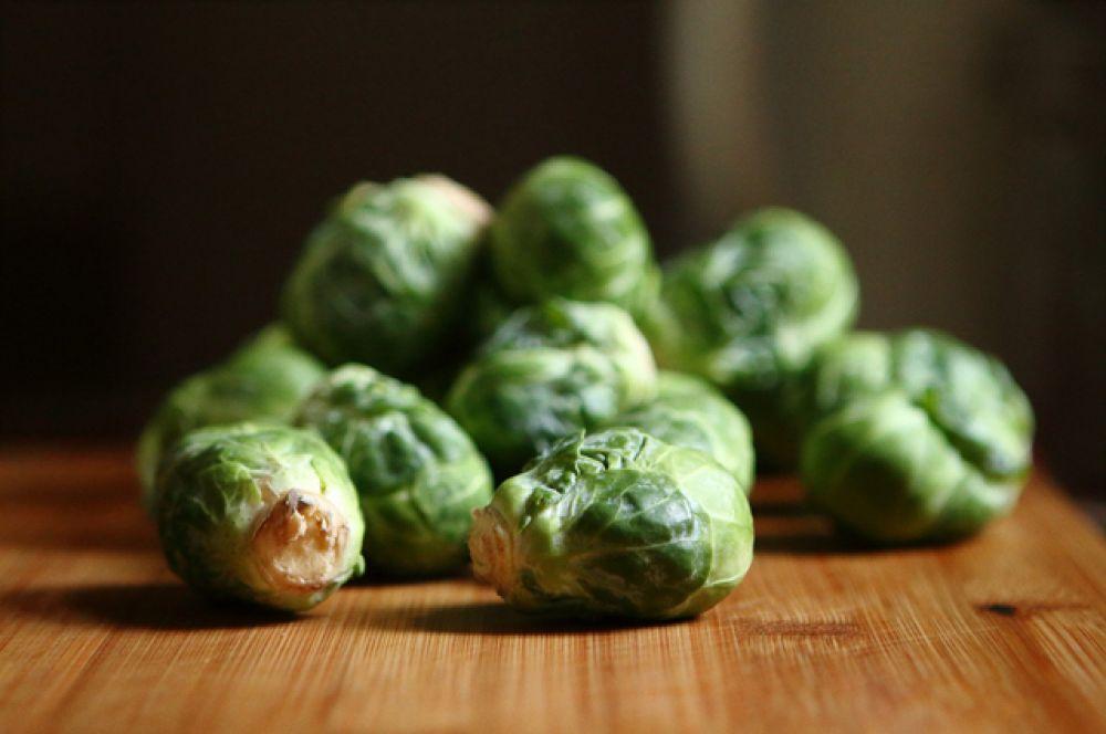 Брюссельская капуста. Около 5 г белка содержится в капусте.