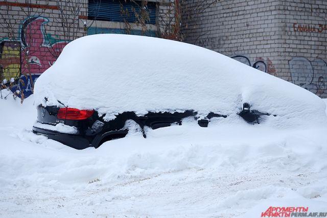 Перед началом паводка вПерми запасы снега больше нормы