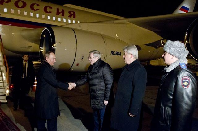 Владимир Путин прибыл в Красноярск.
