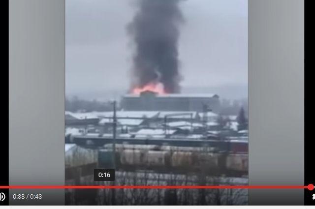 Пожар в ИК-27.