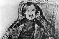 Репродукция рисунка художника Карла Мазера «Николай Васильевич Гоголь» из собрания Государственного литературного музея.