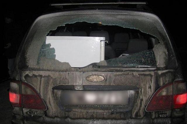Последствия стрельбы по автомобилю