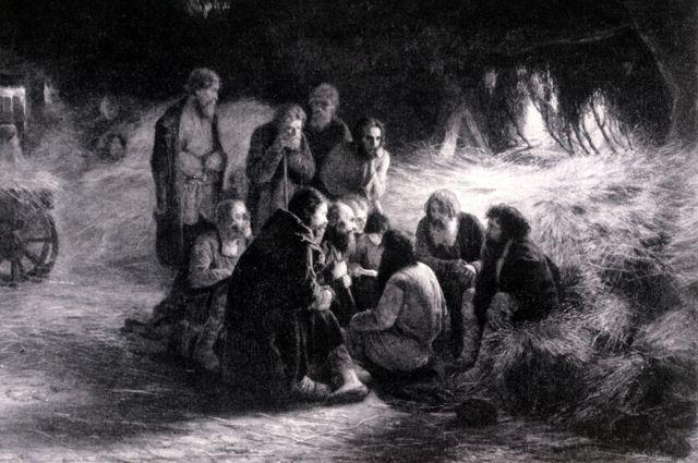 Картина Григория Мясоедова «Чтение манифеста 19 февраля 1861 года»