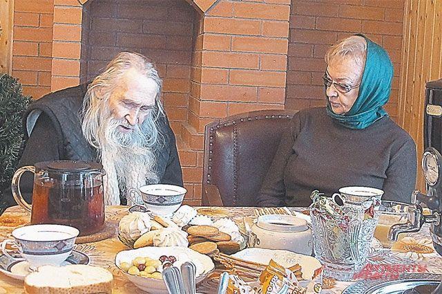 Схиархимандрит Илий и Надежда Рокоссовская.