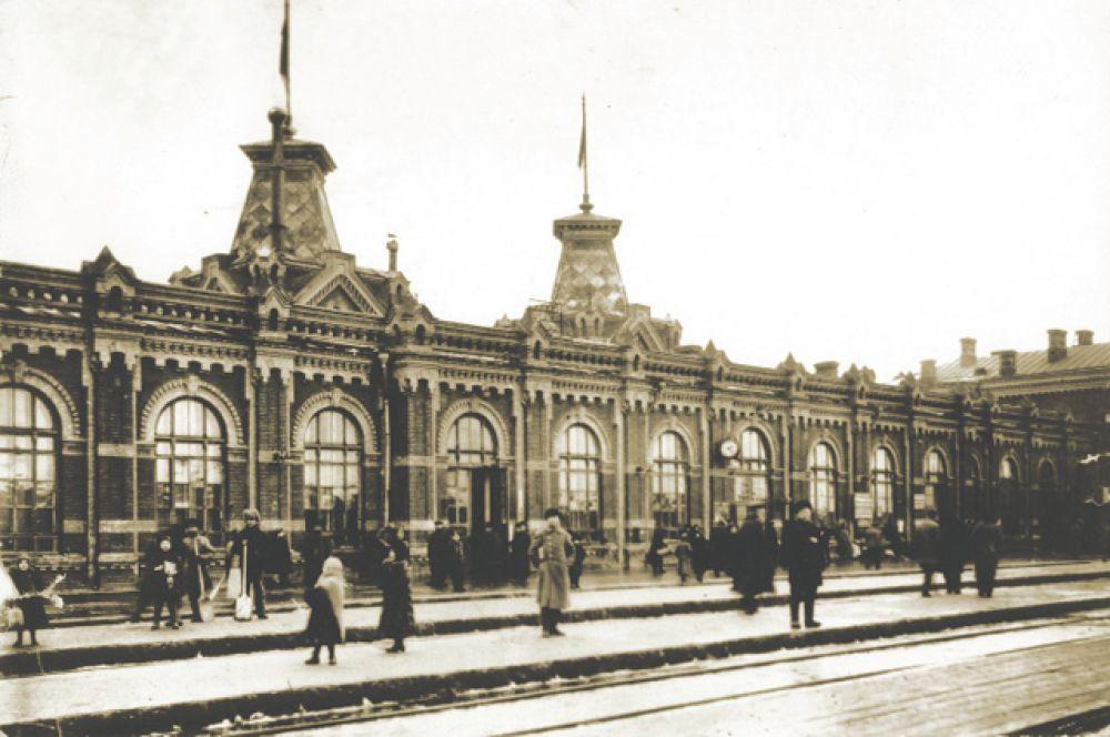 Виленский вокзал, 1873 год.