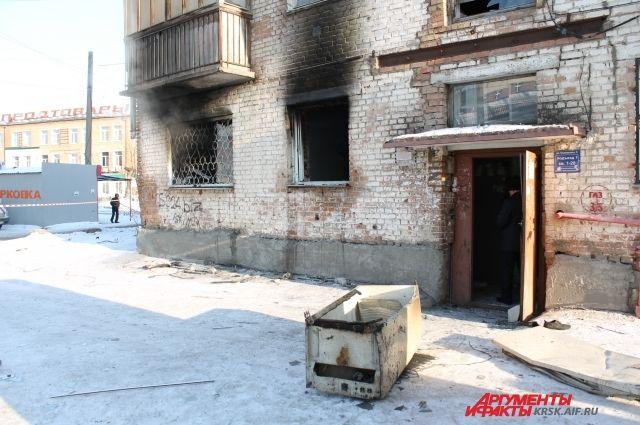 27 января в 5-этажном доме в Зелёной Роще Красноярска прогремел взрыв бытового газа.