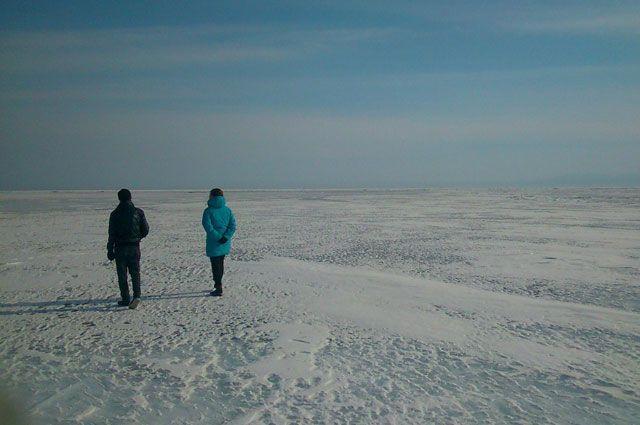 Ледовый переход через Байкал.