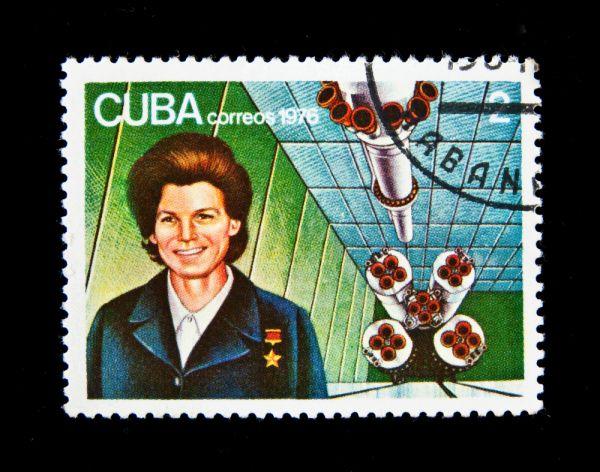 Почтовая марка Кубы, 1976 год.