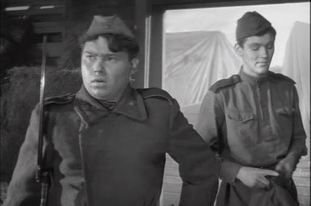 Актер Александр Кузнецов в фильме «Баллада осолдате» (1959)