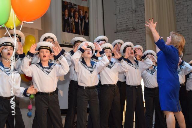 Хор мальчиков «Клаксон» — эти ученики школы № 81 поют ежедневно.