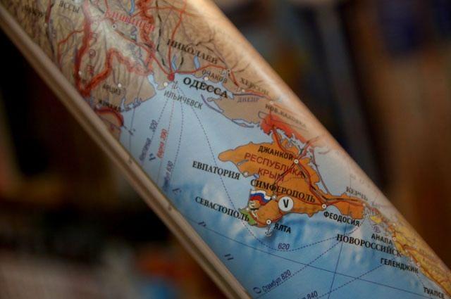 ВКраснодаре наавтовокзале висела карта сукраинским Крымом