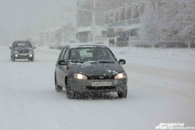 ВЮгре Госавтоинспекция предупреждает водителей обухудшении погоды