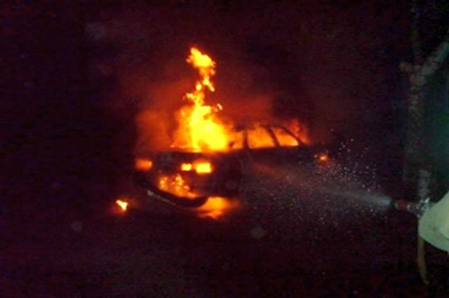 Наулице Бирюзова вРязани вспыхнули шесть авто