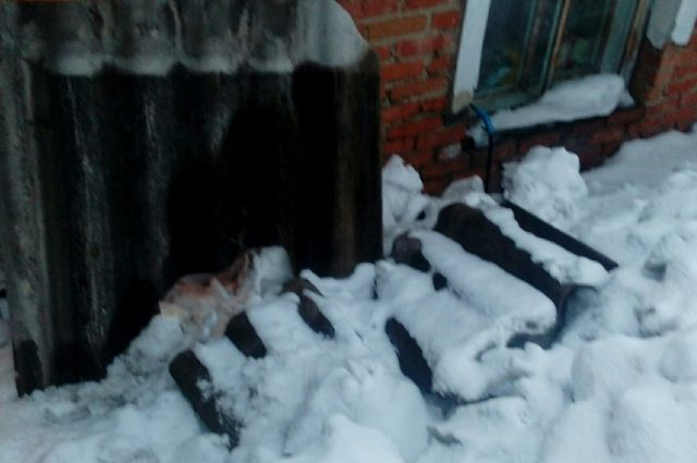 Сосед Галины скидывал снег с крыши и вместе с ним скинул кусок шифера.