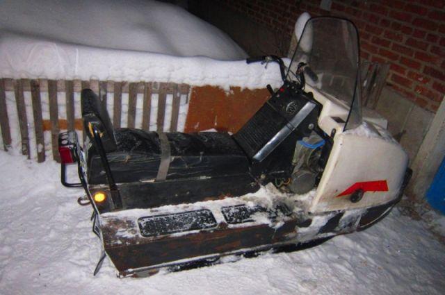Украденный вБрейтово снегоход милиция отыскала вТверской области