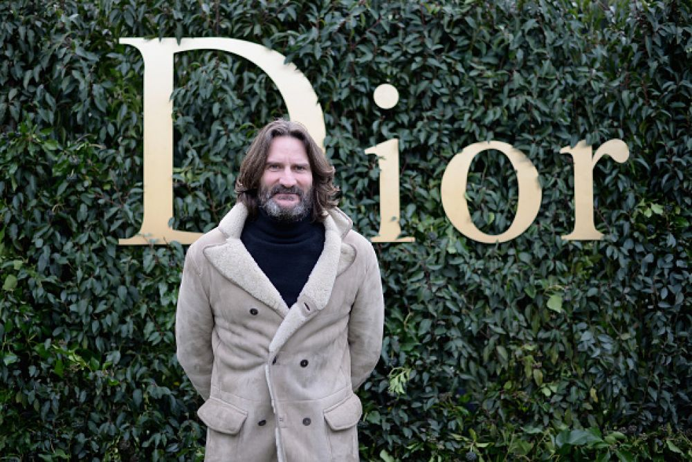 Известный французский писатель Фредерик Бегбедер посетил показ Dior