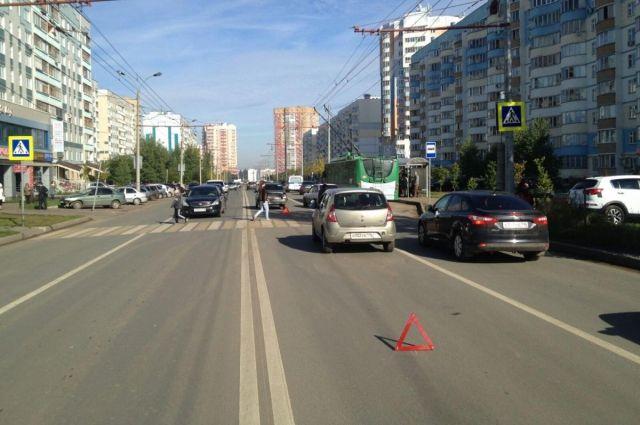 Массовое ДТП вКазани стало предпосылкой большой пробки
