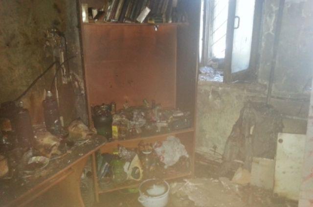 Пермяк спас соседа изгорящей квартиры