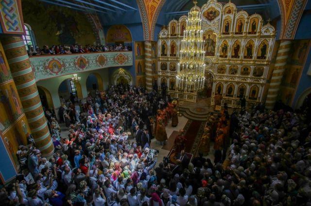 Собор Марии Магдалины был заложен 1 сентября 2004 года.