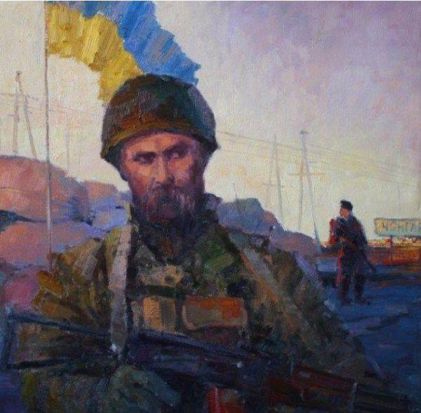 Тарас Шевченко в зоне АТО. Автор картины, к сожалению, неизвестен