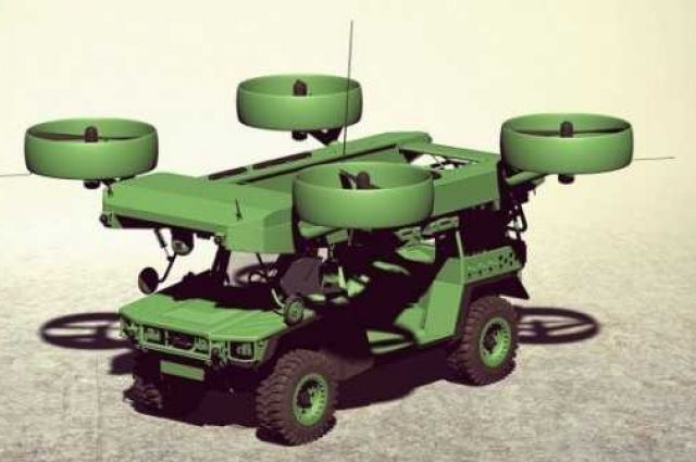 Украинцы создали концепт-кар летающего бронеавтомобиля для спецназа