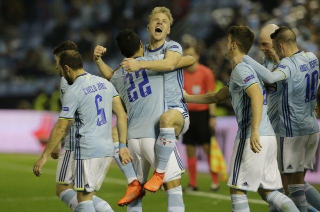 «Краснодар» проиграл «Сельте» впервом матче 1/8 финала Лиги Европы