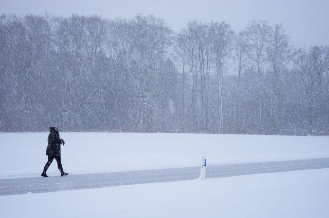 Ветер и снег ожидаются в Приангарье в выходные.