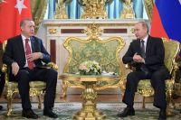 Президент Турции Реджеп Тайип Эрдоган и президент РФ Владимир Путин.