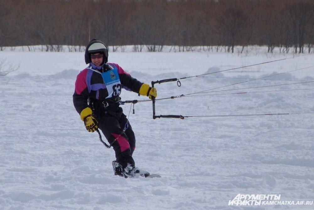 Сноукайтинг  — вид спорта на снежном покрытии с использованием лыж или сноуборда.