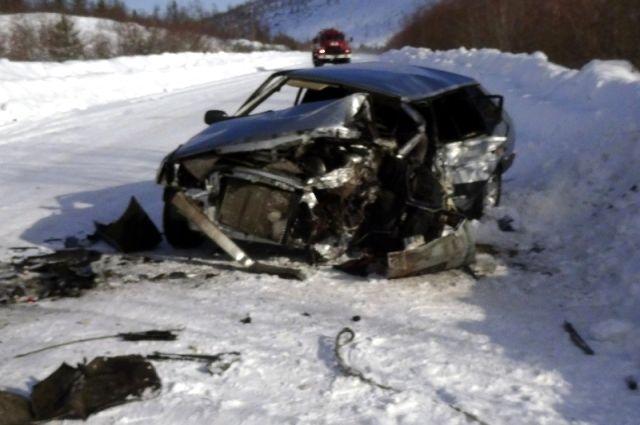 В ДТП погиб водитель.