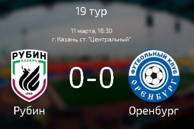 ФК «Оренбург» не пропустил и не забил в матче с «Рубином»