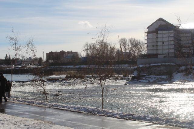 Уровень воды вУпе поднялся практически наполметра