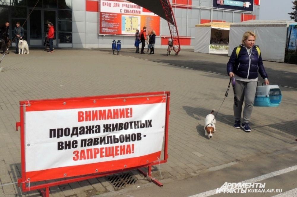 Организаторы мероприятия пресекали попытки нелегальной торговли животными.