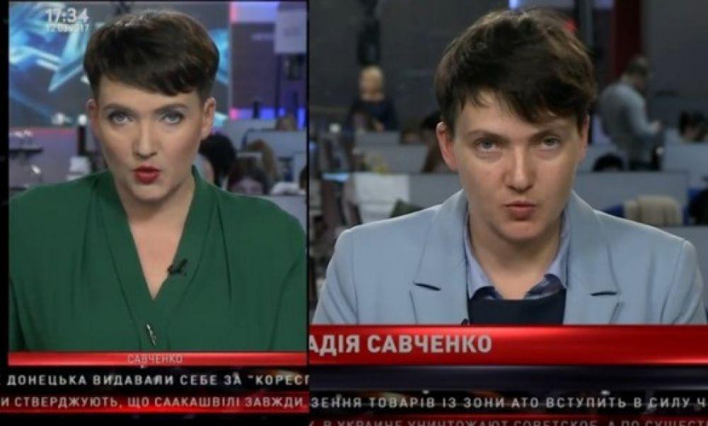 Больше всего шуму наделал последний образ депутата. В эфире одного из телеканалов Савченко впервые появилась с ярким макияжем
