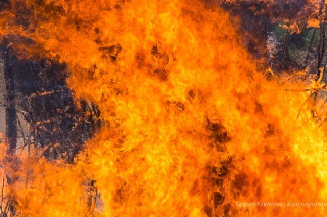 При пожаре погибла женщина