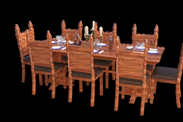 Каркас каждого стула должен быть изготовлен из массива березы, сиденье обтянуто экокожей.