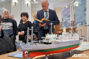 Макет траулера «Тукан». В 1967 году судно легло на дно Балтийского моря.