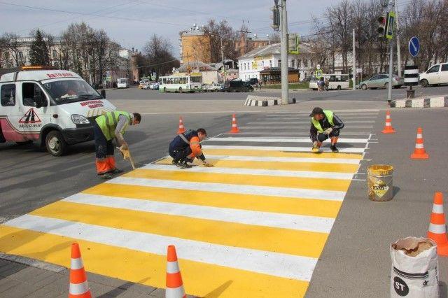 15 млн руб. истратят надорожную разметку вНижнем Новгороде