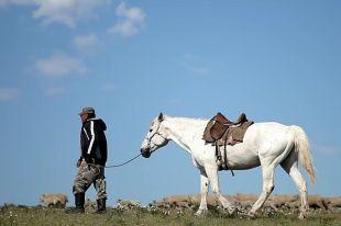 Кадр из фильма «Нюуса» Булата Базарова и Даба Дабаева.