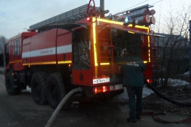 ВТуле утром впроцессе пожара пострадал человек