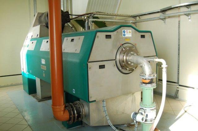 Новый декантер - центрифуга для очистки стоков.