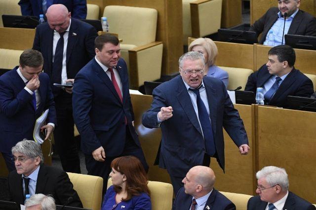 Появилось видео разъяренного Жириновского иухода ЛДПР с совещания Государственной думы