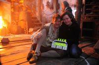 Мила Щаблюкова на съемках российского блокбастера «Вий 3D», позже ей довелось поработать и в продолжении картины.