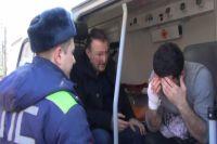 В центре Калининграда хулиган порезал ножом двух мужчин.