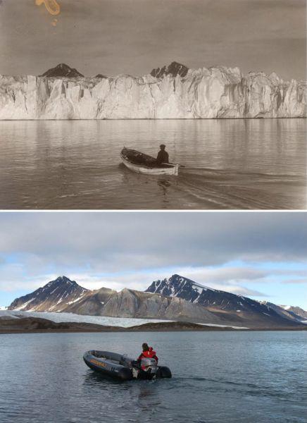 Если раньше ледники полностью закрывали горы, то сейчас от них почти не осталось