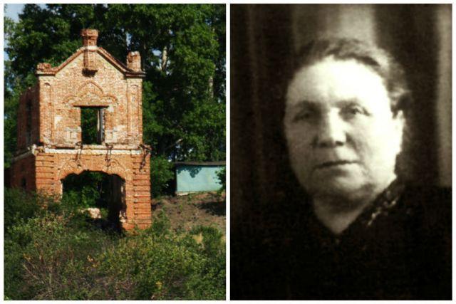 1) Вид с Волги на загадочное строение (слева); 2) Евдокия Самсонова (справа).